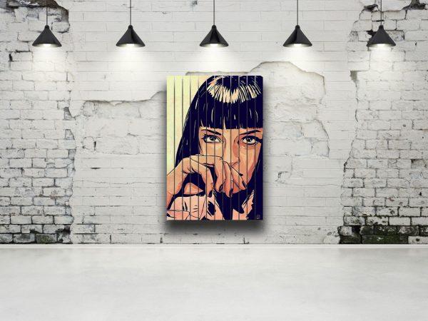 картина на ламелях Девушка